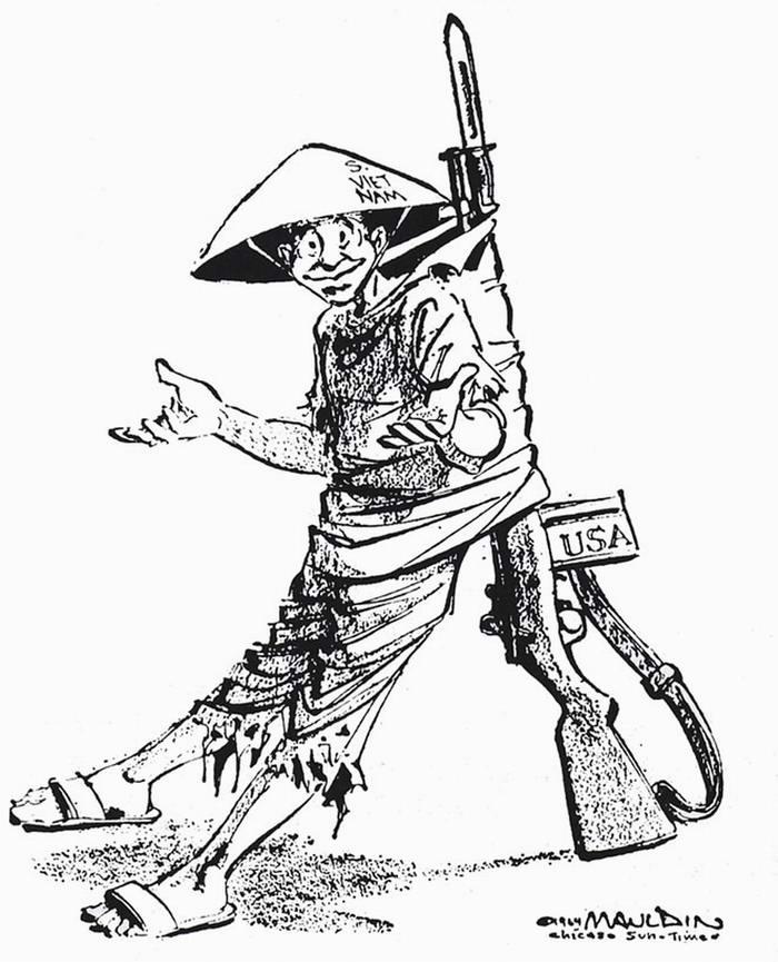 Американская винтовка - спинной хребет Южного Вьетнама (Bill Mauldin)