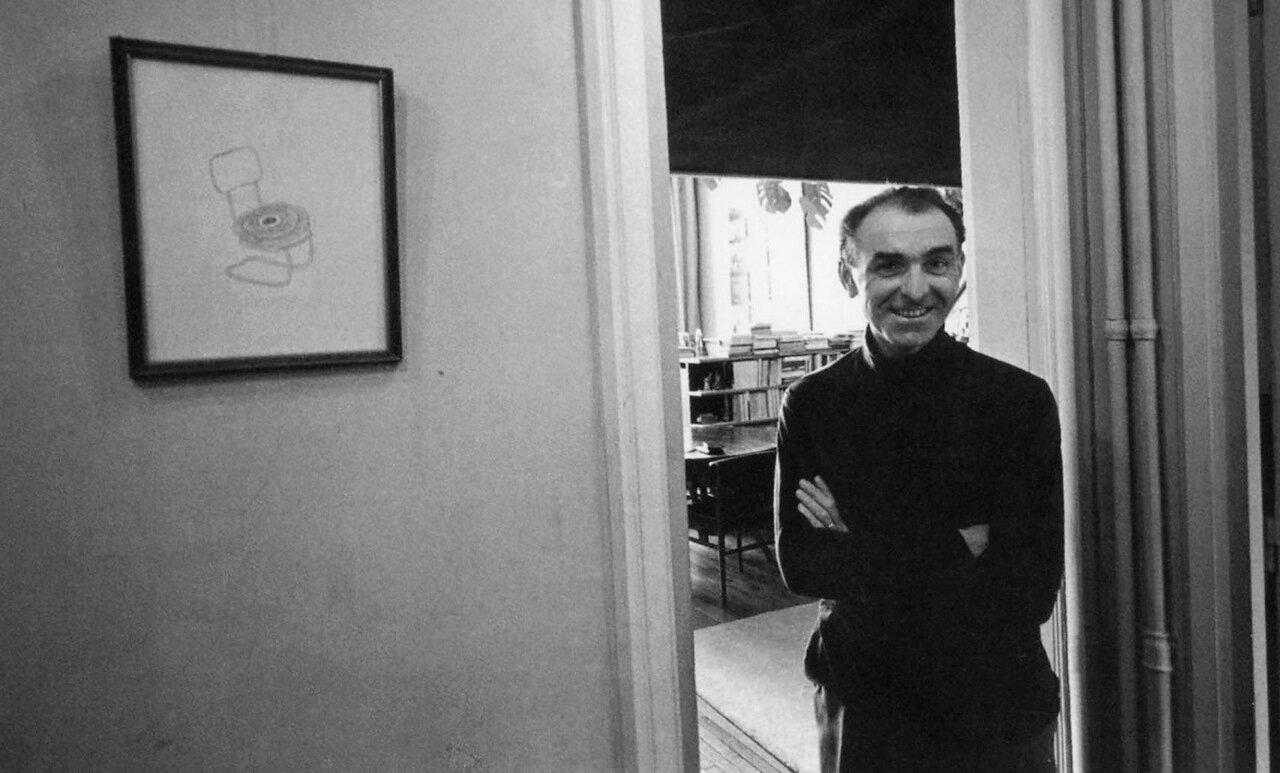 1968. Робер Дуано у себя дома