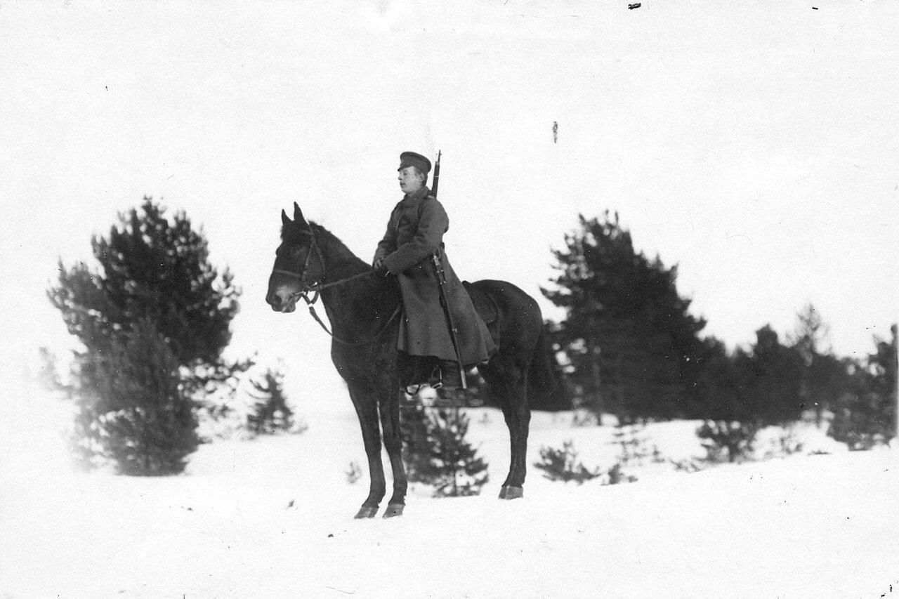 15. Конный стражник на границе. 1908