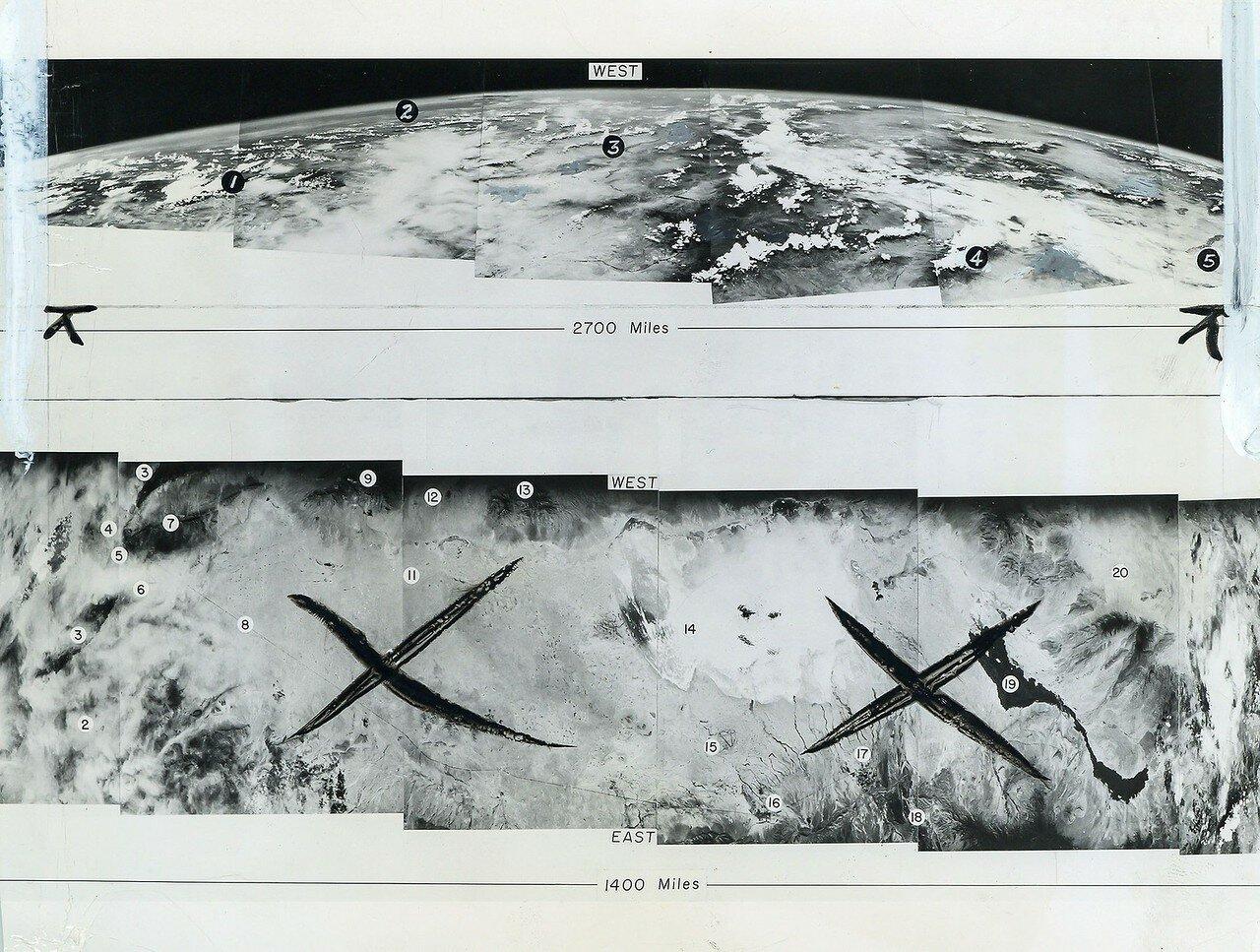 03. 1948, июль. Первая фотография кривизны Земли, сделанная автоматической камерой, прикрепленной к ракете.