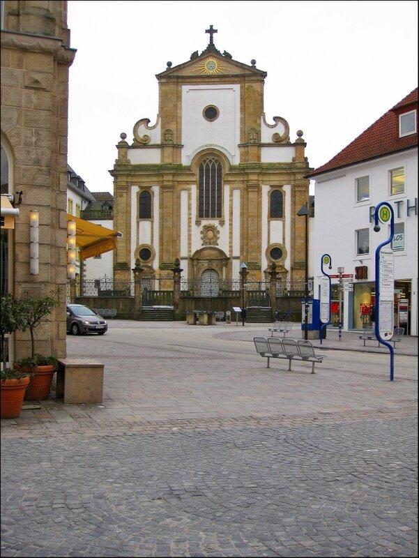 Вид на Jesuitenkirche в Падерборне
