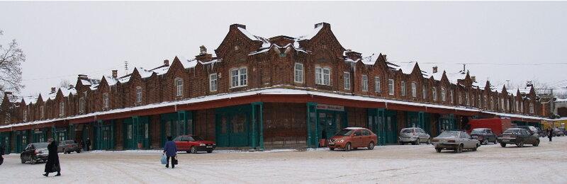 Торговые ряды в центре Кашина