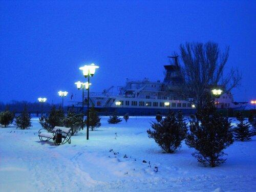 Астрахань, Новый Год-2009,набережная Волги