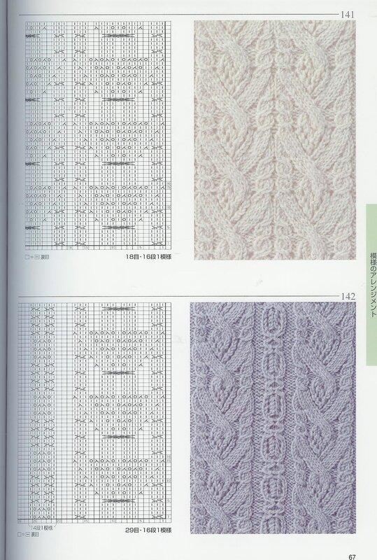 Схемы для вязания на спицах.