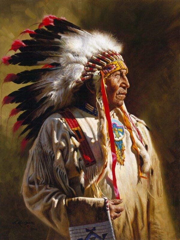 Художник Alfredo Rodriguez.Картинки из жизни индейцев и поселенцев Дикого Запада,золотоискателей