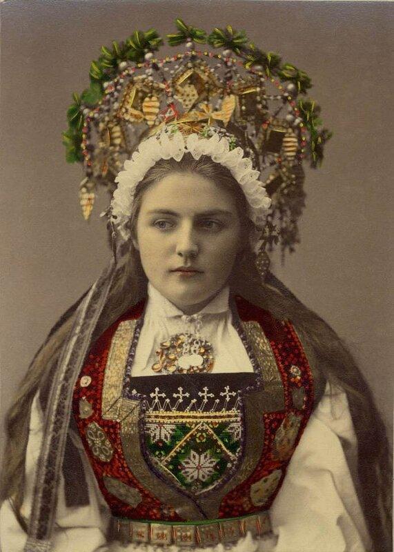 A Bride from Hardanger, Norway - Solvieg, 1870-1920