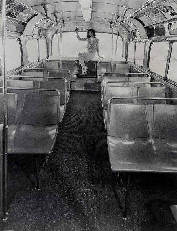 The New York Transit Authority announced the program of replacing all older leather seats aboard city buses with 205,680 new molded fiberglass seats