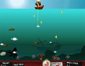 Рыбалка гарпуном в лагуне - рыболовная игра на LENV.RU