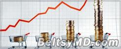 В 2012 году размер инфляции в Молдове составил 4,1%