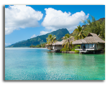 Французская Полинезия. Tahiti Bungalow! Фото guigaamartins - shutterstock