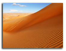 ОАЭ. Дубаи. A view of the rolling sand dunes of the Arabian desert. Фото Sophie_James  - Depositphotos