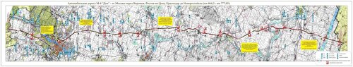 Схема Многофункциональной зоны сервиса МФЗ на трассе М4 ДОН