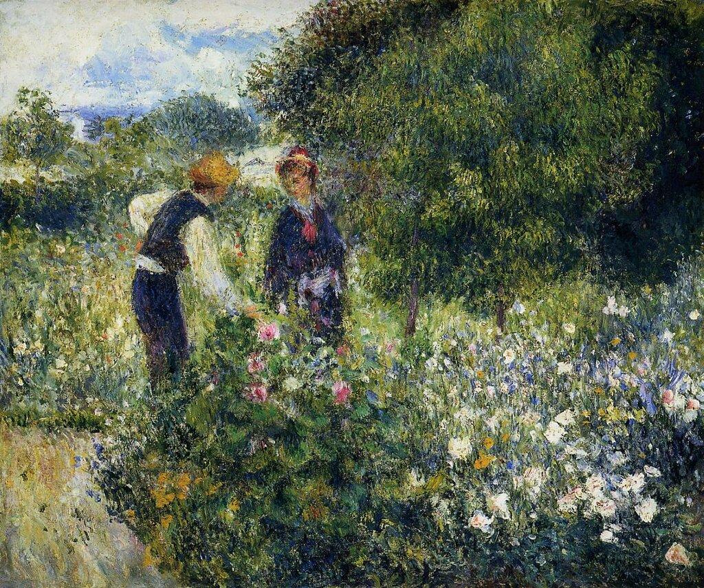 Пьер Огюст Ренуар: Picking Flowers - 1875