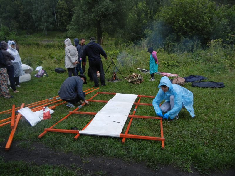 Начало сбора катамаранов (18.08.2015)