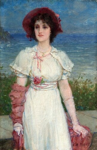 Музей искусств Филадельфии: Edwin Austin Abbey, American, 1852-1911 -- Young Woman in White by the Sea