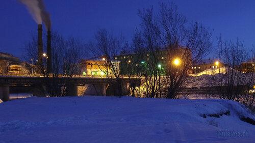 Фото города Инта №3310  Западная сторона моста