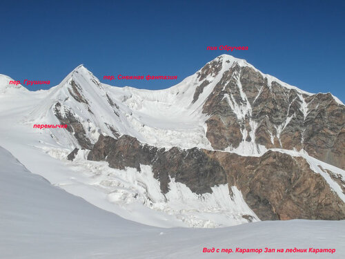 ледник Каратор - перевал Снежная фантазия - ледник Ашутор - перевал Обручева - река Куйлю Вост