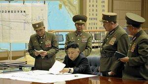 Линии между КНДР и США на военных картах