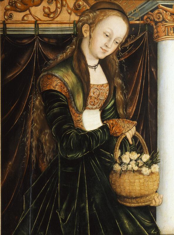 Cranach, Lucas, d.Ä. - Die Heilige Dorothea - c. 1530