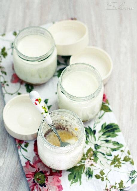 Домашний йогурт с джемом