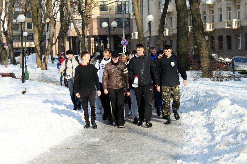 Марш трезвости в Мариинском парке