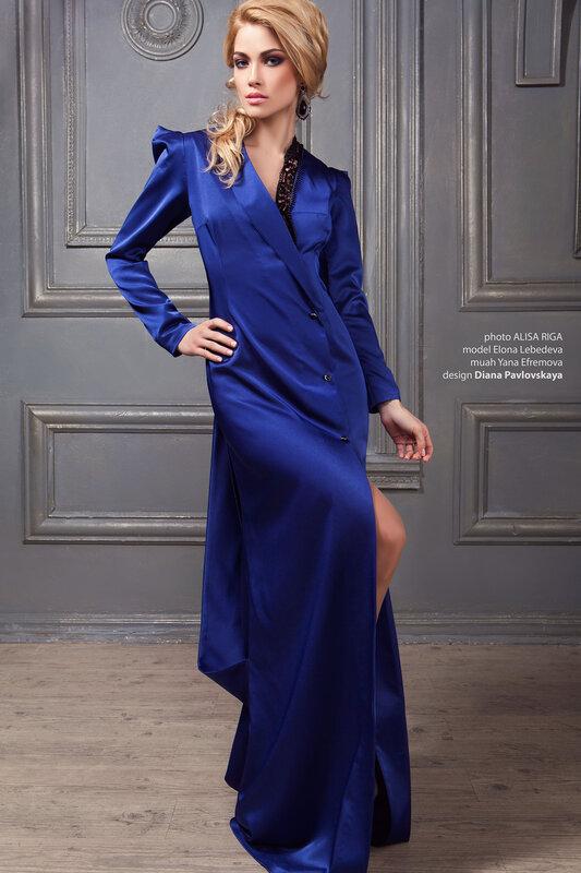 Роскошное вечернее платье от кутюр- дизайнер Диана Павловская