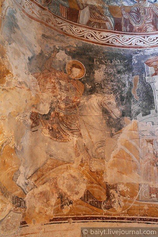Фрески Никорцминды: святой Георгий