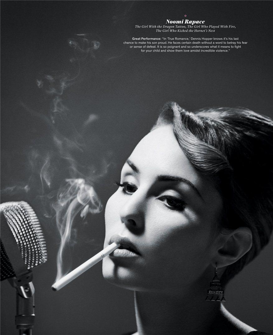 smoking Noomi Rapace / Нуми Рапас с сигаретой