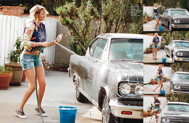 Красота по-американски - Кейт Аптон / Kate Upton by Matt Jones in ELLE France january 2013