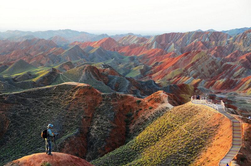 Цветные горы Данься. Китай