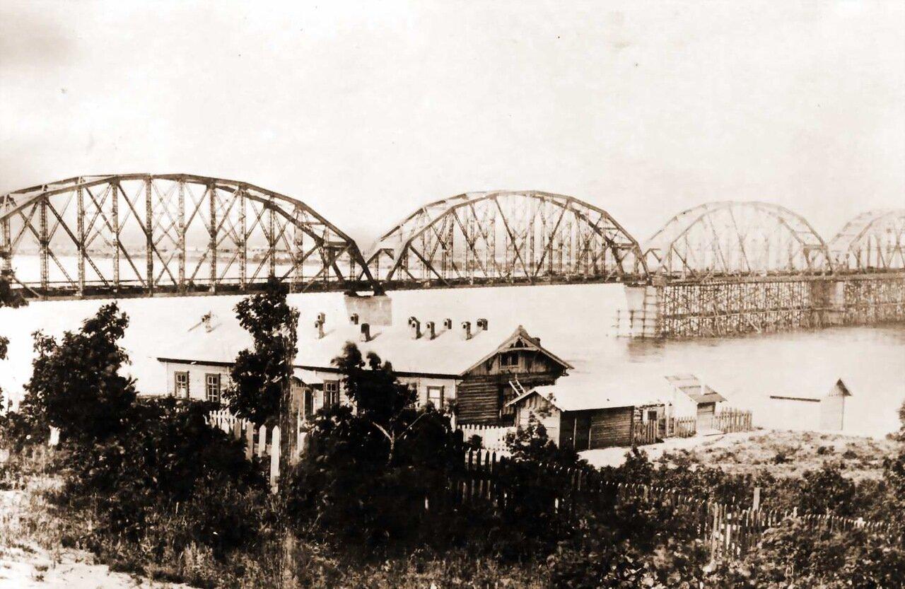 Мост через Зею в районе п. Белогорье. 1913 год
