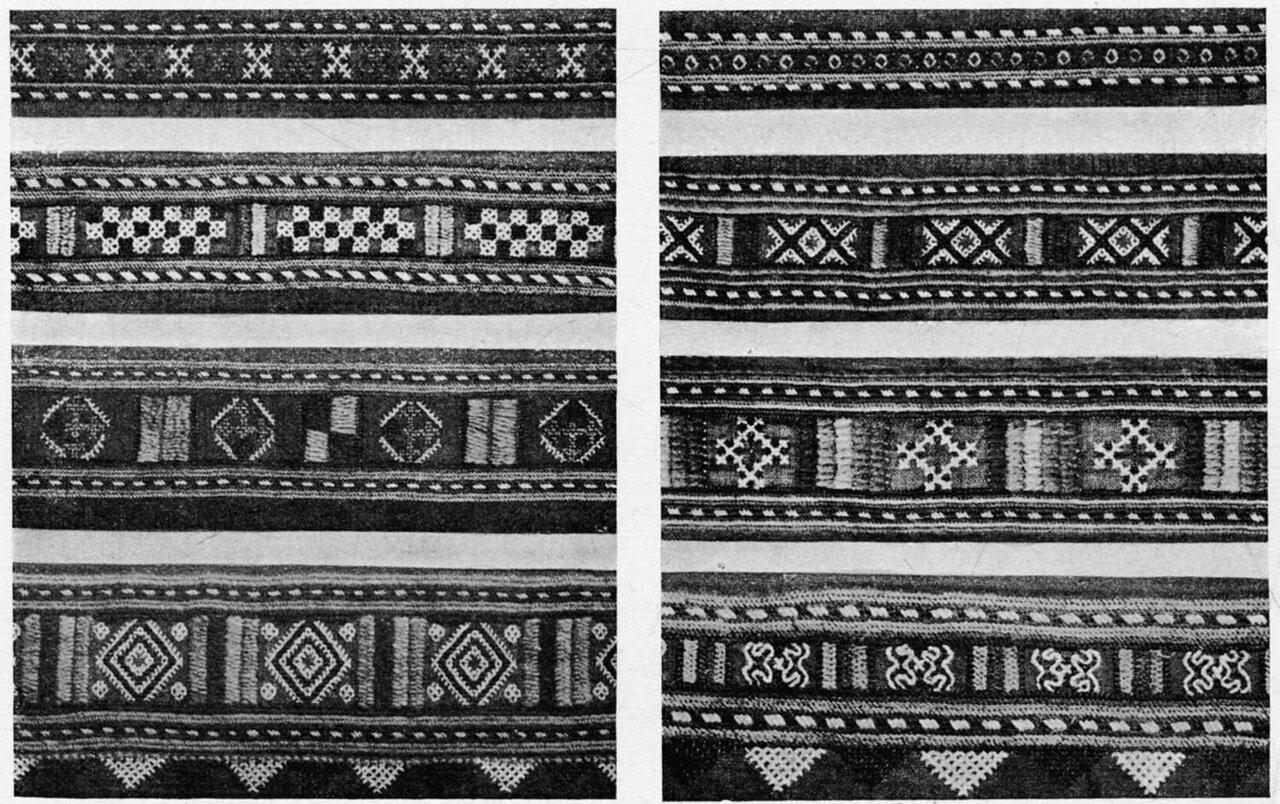 16. В селе Ивлеве набрана была большая коллекция вышивок шелком и бумагой по кумачу и красному холсту.