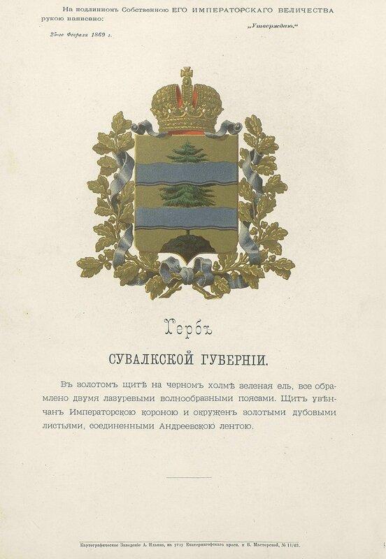 Сувалкская губерния 1880 год