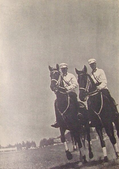 Members of the First Cavalry Army in a horse race for both officers and young recruits, 1937