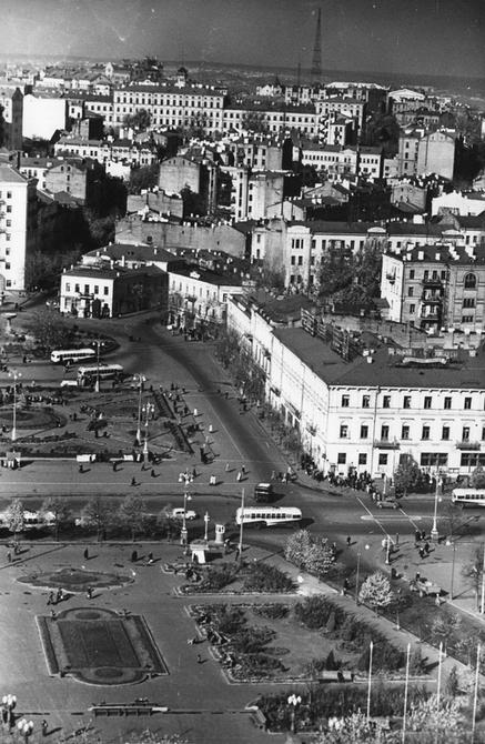 1959.10. Панорама площади Калинина (ныне Майдан Незалежности). Фото: Примаченко А.