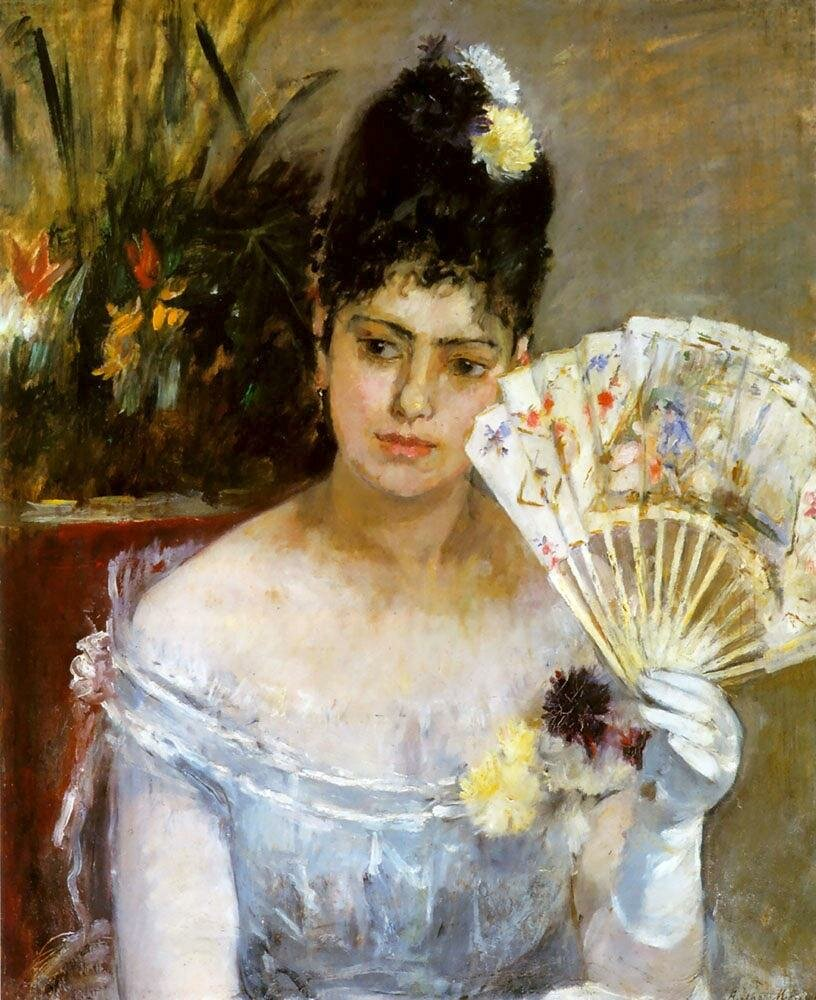 At the Ball, 1875_ Berthe Morisot (1841-1895)