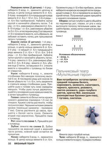 Схема вязания пальчиковых кукол