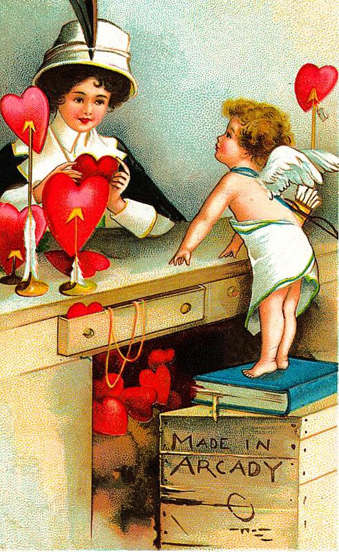 Старинные открытки смешные, розами