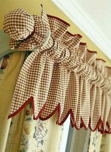 Декорирование карниза тканью
