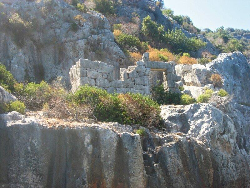 Турция. Кекова - затонувший город - Руины, Море, Крепость, Достопримечательности, Горы - turkey, demre