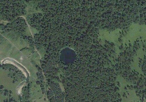 Озеро Шайтанка снеба
