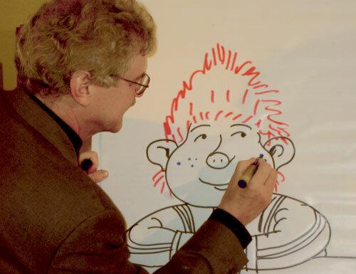 Пауль Маар рисует Субастика