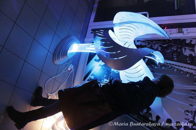 Выставка световых скульптур 'Живой свет', Саратов, 13 декабря 2012 года