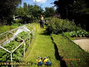 как побрить огород