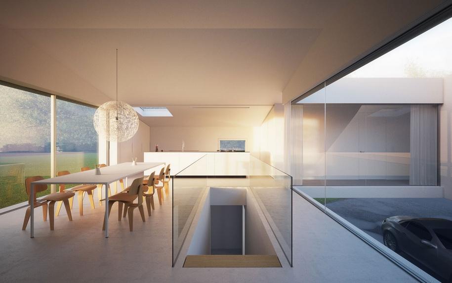 Сложная архитектура частного дома в Германии