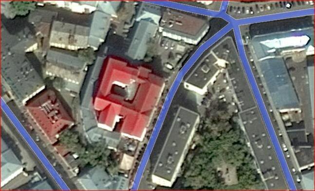 Публичный дом в Певческом переулке, 2012. на Яндекс-картах.