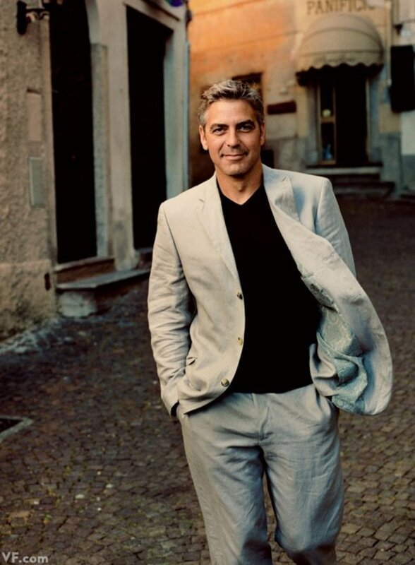 george clooney by annie leibovitz in argegno on lake of como