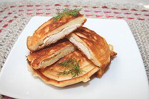 рецепт оладушек с курицей