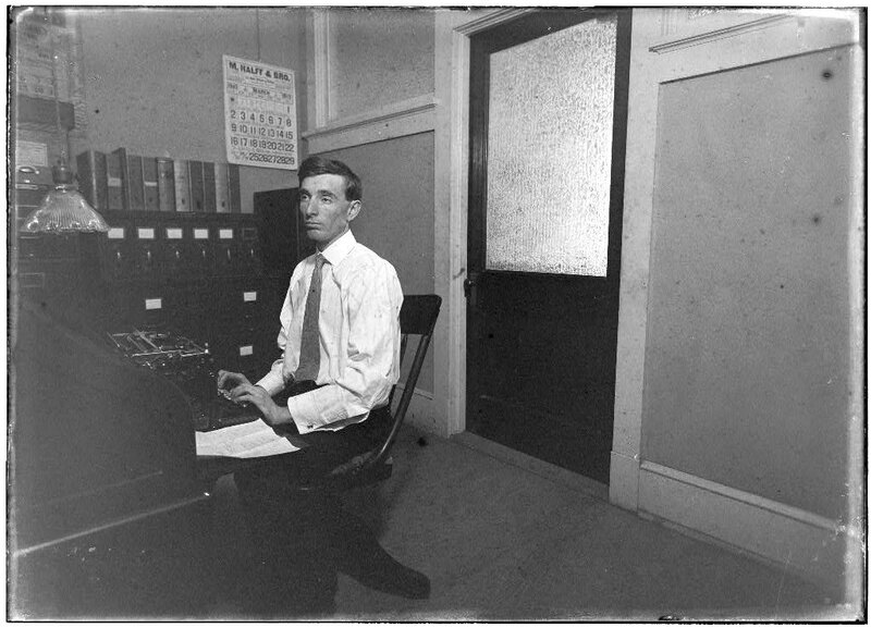 Office interior, March 1913.