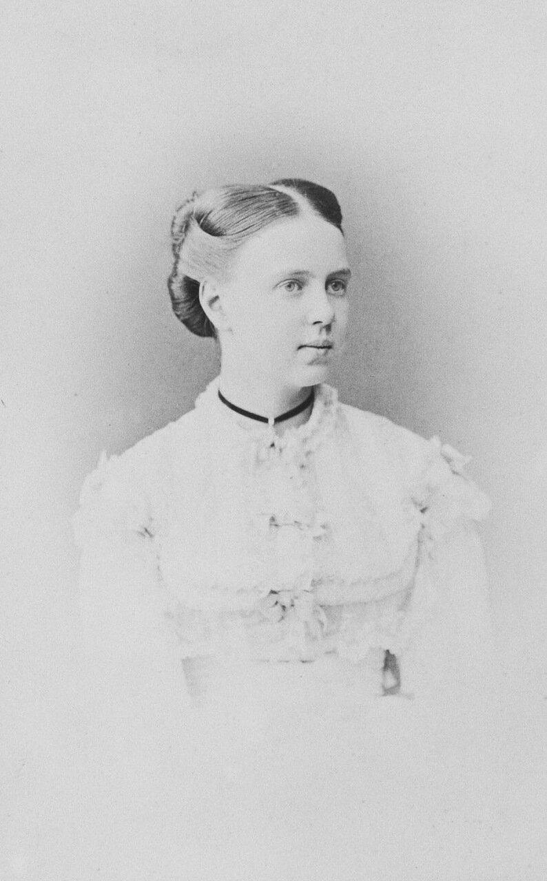 Великая Княжна Мария Александровна,дочь российского императора Александра II и императрицы Марии Александровны, 1872 г.